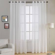 topfinel plain voile curtain white sheer curtains for living room bedroom kitchen decorative door curtain window