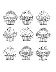 Small Picture cute cupcakes Cup Cakes Coloring pages for adults JustColor