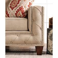 furniture of america medley 2 piece fabric sofa set in beige