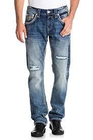 Rock Revival Size Chart Rock Revival Mens Tripp J205 Straight Jeans Amazon Co Uk