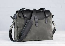 small leather and canvas briefcase small briefcase for laptops