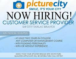 now hiring customer service provider
