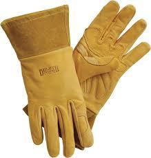 women s leather gauntlet gardening gloves duluth trading