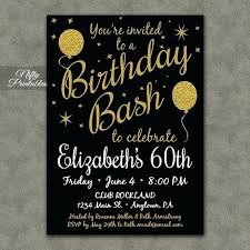 60th birthday invitations for him 60th birthday invitations printable black by male party fitnevolving