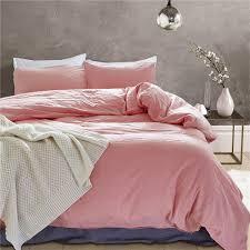 home fame 3 piece solid color 100 cotton duvet cover sets