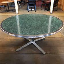 60 round wood and laminate conference table