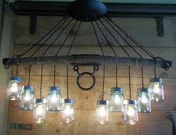 horse drawn wagon single tree yoke mason jar light fixture steampunk chandelier in collectibles cultures ethnicities western americana bits bridles