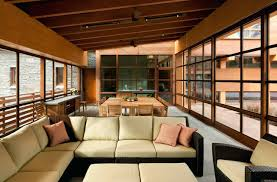 contemporary sunroom furniture. Contemporary Sunroom Furniture Beige Outdoor Cushions In Inspiring Design With Floor To Ceiling Windows And Additions E