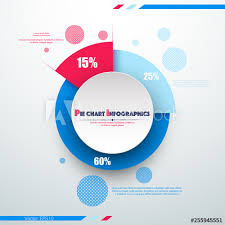 Business Colorful Pie Chart Template With Big Circle In The