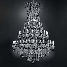 black crystal lighting. Large Black Crystal Chandelier Lighting