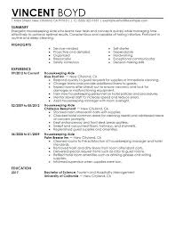 Awesome Collection Of Fascinating Hotel Housekeeping Resume Sample