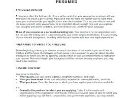Writing The Objective For A Resume Career Objectives Resume Examples