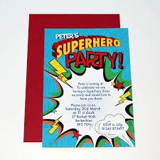 Personalised Superhero Party Invitations Superhero Party