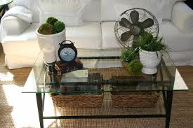 glass coffee table decor simple