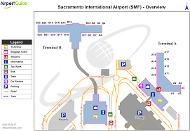 sacramento  sacramento international (smf) airport terminal maps