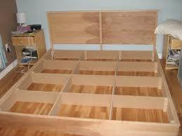 diy queen platform bed frame diy plans depiction