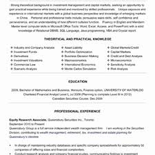 Market Research Resume Samples Beautiful Equity Research Analyst