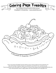 Small Picture dulemba Coloring Page Tuesday Birthday Sundae