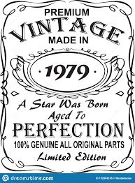1979 Design Vectorial T Shirt Print Design Premium Vintage Made In 1979