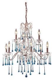 elk 4013 6 3aq once hanging 25 inch diameter large 9 candle aqua crystal loading zoom