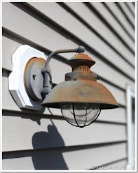 how to paint a rusted metal light fixture