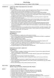 Personnel Security Resume Samples Velvet Jobs
