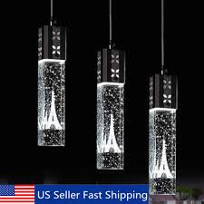 details about tower led crystal bubble light chandelier ceiling pendant lamp living room decor