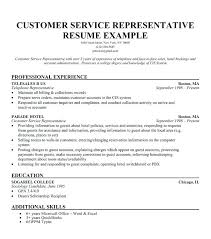 Call Center Rep Resume Simple Free Sample Customer Service Resume Templates Example For
