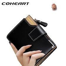 coheart wallet women leather wallet female top quality women small purse lady money bag zipper luxury brand wallet hot womens leather wallets