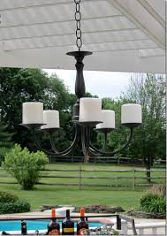 captivating outdoor candle chandelier non electric lighting