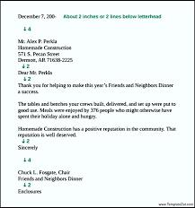 Standard Business Letter Format Spacing Templatezet