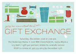 Christmas Gift Exchange Holiday Party Invitations By ElliChristmas Gift Exchange Email