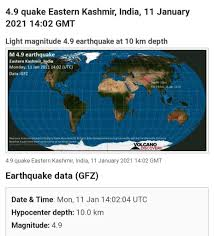 The earthquake struck in the south pacific, the us geological survey (usgs) said, sparking a tsunami warning for new zealand, new caledonia, vanuatu a powerful 7.7 magnitude undersea earthquake struck the south pacific on thursday, triggering tsunami warnings in the region that were later. Earthquake Of Magnitude 4 9 Jolts Kashmir Reformer Facebook