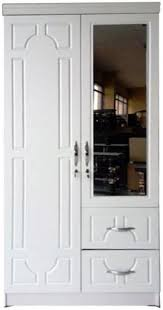 galaxy design 90x190x55 cm 2 door wooden wardrobe cabinet with drawers mirror white gch 622 souq uae