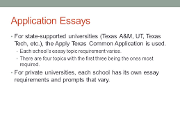 college application essay writing application essays for state  application essays for state supported universities texas a m ut texas tech