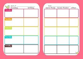 Cute Printable School Schedule Template Weekly Timetable