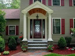 front door portico kitsBlack Front Door Gable Style Portico Stock Photo Kits Front Door