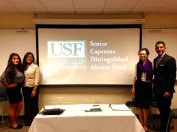usf department of communication on monday 15 2016 senior capstone students participated in a distinguished alumni panel to learn about building networking relationships and