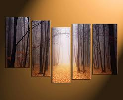 5 piece canvas wall art home decor scenery huge pictures orange wall art on large canvas wall art trees with 5 piece artwork scenery large canvas orange canvas wall art