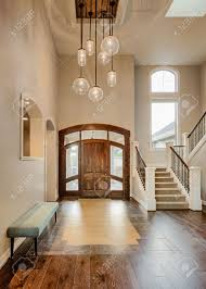 Home Entryway Beautiful Foyer In Home Entryway With Stairs Pendant Lights