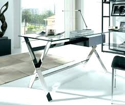 white glass office desk modern computer table regarding ideas 8