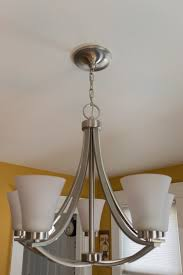 old silver formal dining room light fixture