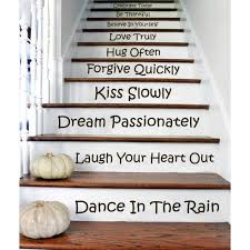 Stairs Quotes Cool Shop Stair Quotes Stairway Celebrate Today Be Thankful Believe Decal