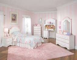 bedrooms with white furniture. Soft Stripped Pink White Wall Paint Colors Feats With Charming Chic Kids Bedroom Sets And Rug Bedrooms Furniture