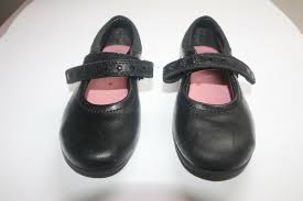 clarks daisy leap black leather girls formal casual school shoes uk 7 infant