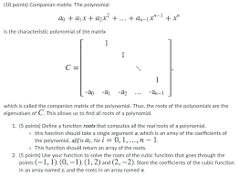 which is called the companion matrix of