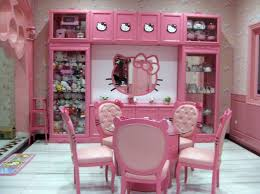 Sweet Hello Kitty House with Pink Interior Decoration : Sweet Hello Kitty  House Pink Side Chairs