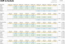 Work Shift Schedule Template 3 Employee Schedule Template Free Download