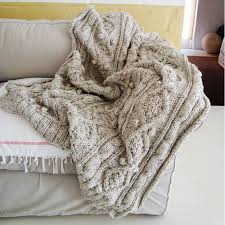 Pattern For Knitted Throw Blanket