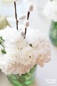 Mason Jar Table Decorations Wedding Quick and Easy Mason Jar Centerpieces Setting for Four 91